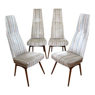 1960s Vintage Adrian Pearsall 2051-C High Back Dining Chairs- Set of 4 For Sale