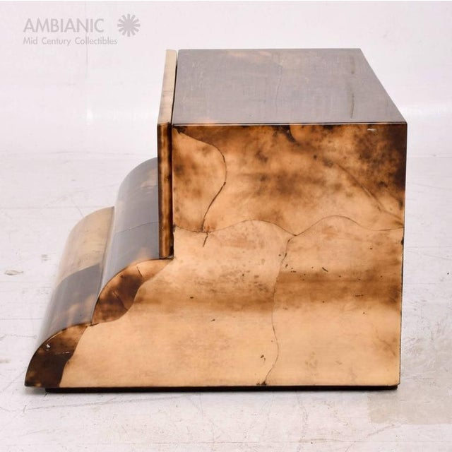 Goatskin Bed Side Table For Sale - Image 4 of 8