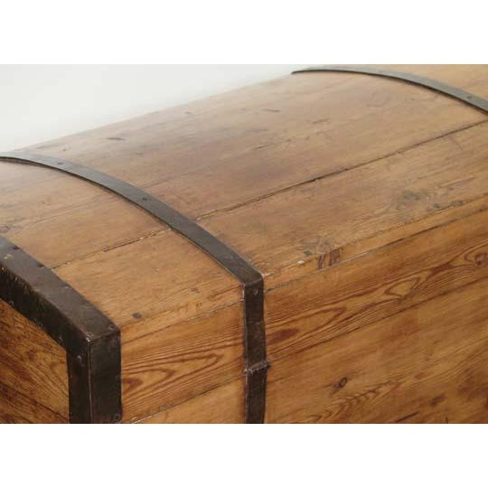 Cottage English Pine Dome Top Box For Sale - Image 3 of 6