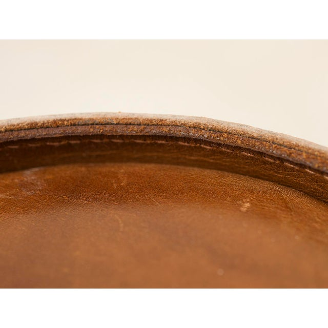1960s Leather Danish Wastebasket, 1960s For Sale - Image 5 of 11