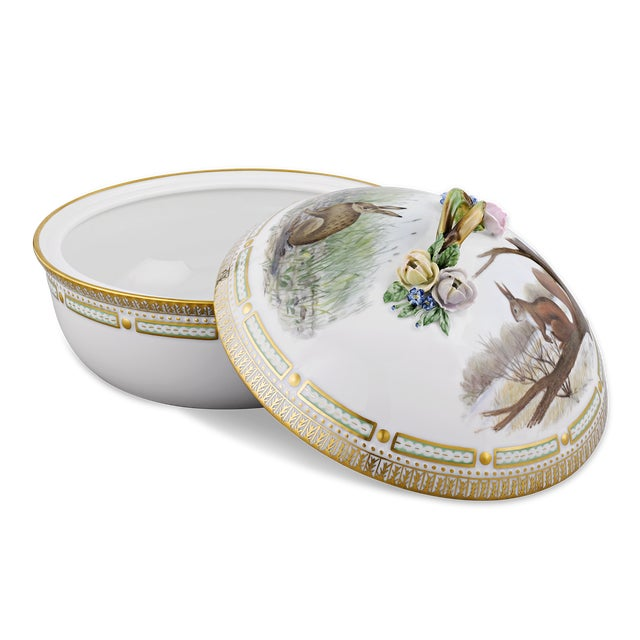 Traditional Flora Danica Game Series Covered Vegetable Dish For Sale - Image 3 of 6