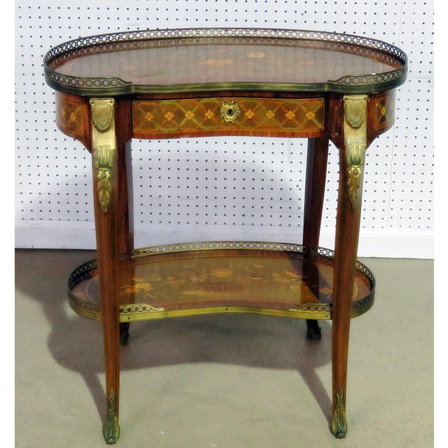 Gold 20th Century Louis XV Style Accent Table For Sale - Image 8 of 8