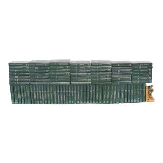 Complete Collection Gilt Leather Bound Library Book Set - 20 Pieces For Sale
