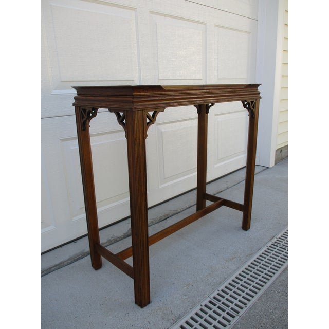 Brown Chippendale Style Console Table For Sale - Image 8 of 11