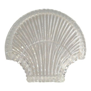 1990s Vintage Waterford Crystal Shell Trinket Dish For Sale