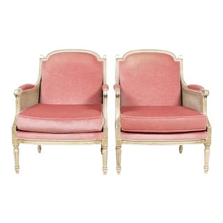 1930s Louis XVI Style Bergere Chairs - A Pair