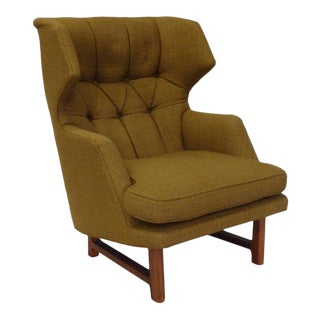 Original Edward Wormley for Dunbar Modernist Wingback Lounge Chair For Sale