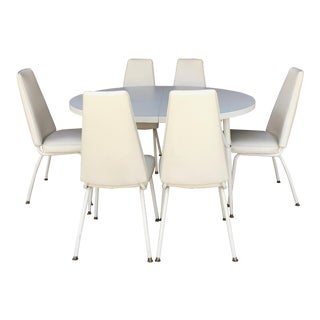 Vintage Dining Table With 6 Chairs For Sale