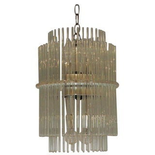 Glass Rod Chandelier by Gaetano Sciolari for Lightolier For Sale