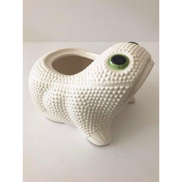 Vintage Ceramic Frog Planter For Sale - Image 11 of 11