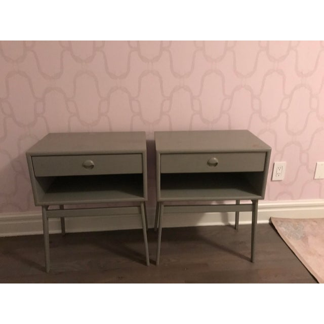 Mid-Century Modern Pair of Mid-Century Teak Chelsea Textiles Bedside Tables For Sale - Image 3 of 8