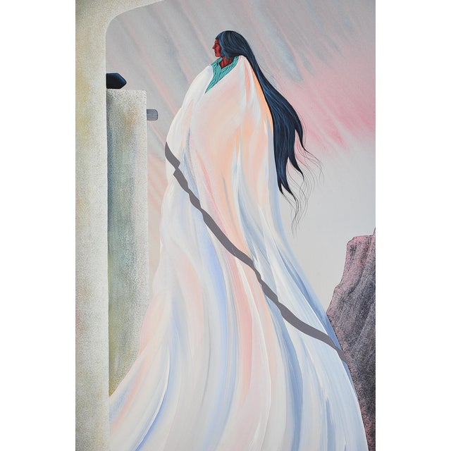 """Bill Rabbit """"Archway"""" Native American Oil Painting - Image 1 of 8"""