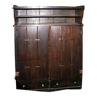 Early Arts & Crafts Wood Storage Cabinet For Sale