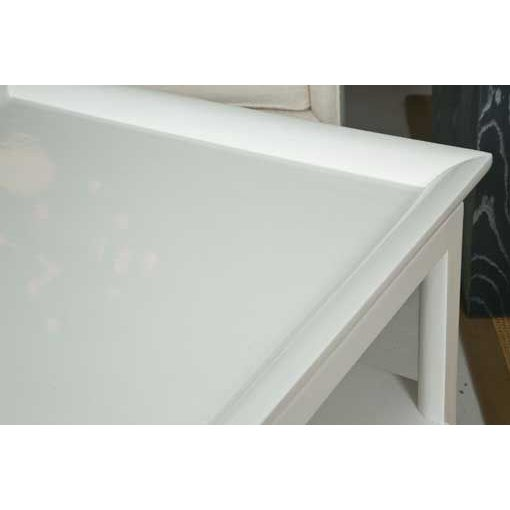 Mid-Century Table in White Lacquer - Image 4 of 7