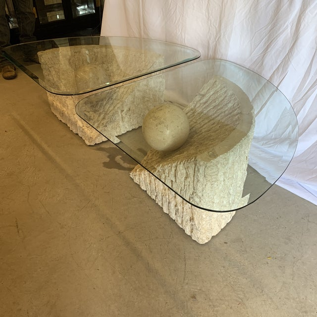 Boho Chic Vintage Post Modern Tessellated Stone Coffee End Tables - a Pair For Sale - Image 3 of 13