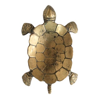 Small Brass Turtle Catchall