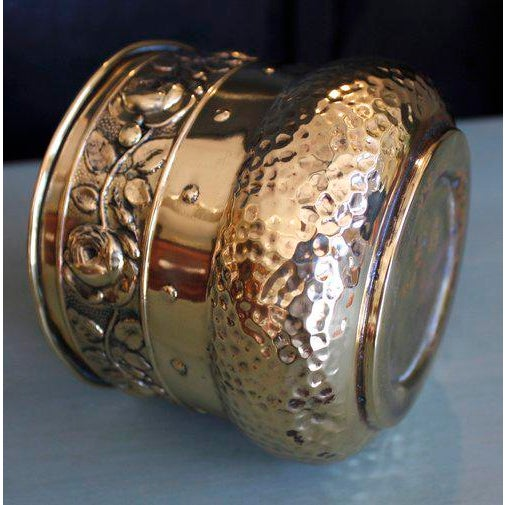 Small English Brass Repoussé Cachepot - Image 3 of 7