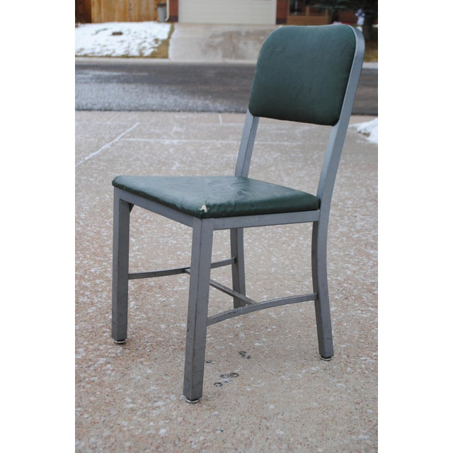 Mid-Century Industrial Tanker Desk Chair For Sale - Image 9 of 9