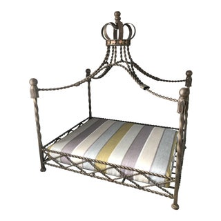 Baroque Ornate Four Poster Dog Bed With Crown For Sale