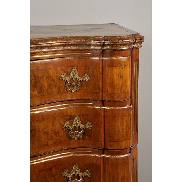 Rococo 18th Century Danish Rococo Walnut Chest of Drawers For Sale - Image 3 of 9
