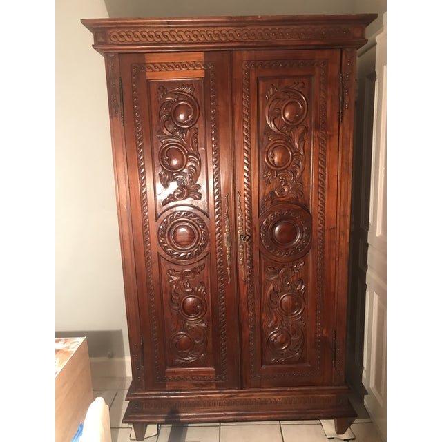 Antique French Country Armoire - Image 2 of 10