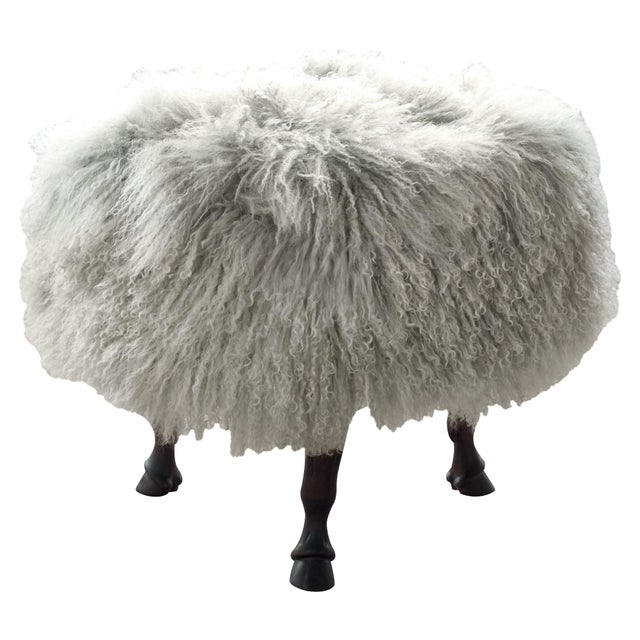 Contemporary vanCollier Finn Ottoman For Sale - Image 3 of 3