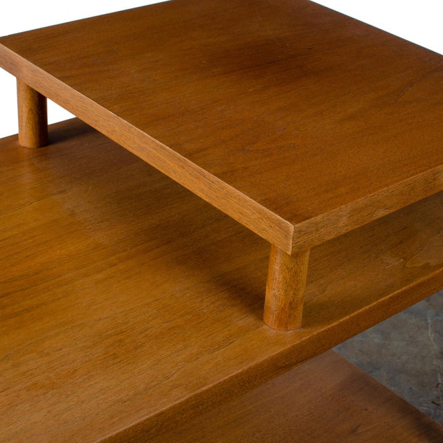Brown t.h. Robsjohn-Gibbings for Widdicomb Step Side Table For Sale - Image 8 of 11