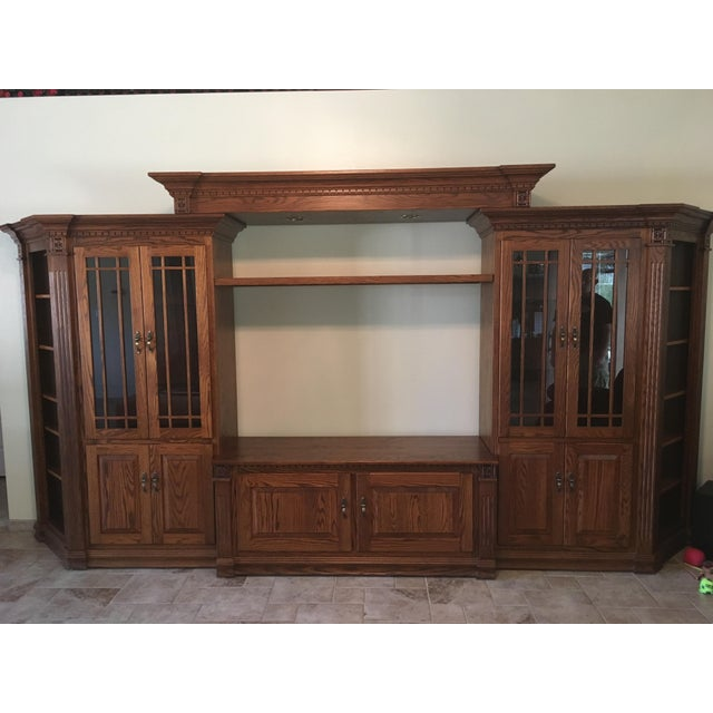 Amish Lighted 5-Piece Wall Unit - Image 7 of 11