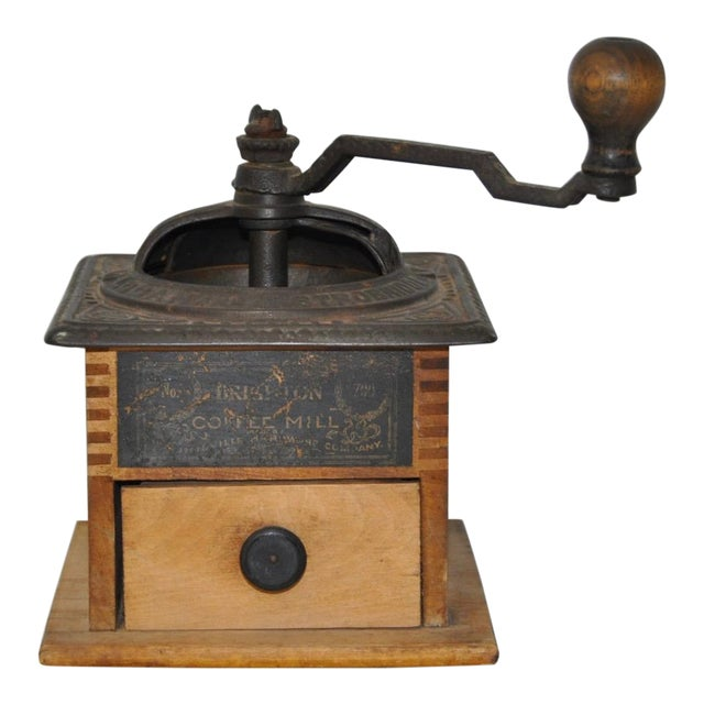 Antique Cast Iron & Wooden Coffee Mill - Image 1 of 5