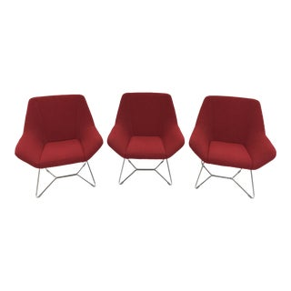 Keilhauer Red Cahoots Modern Chairs- Set of 3 For Sale