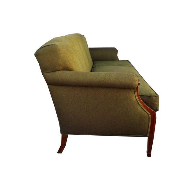 Hollywood Regency Vintage Wood Trimmed Sofa - Image 3 of 7