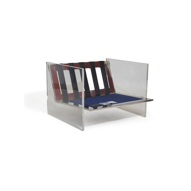 Mid-Century Modern Milo Baughman for Thayer Coggin Lucite Chrome Lounge Chair For Sale - Image 3 of 8