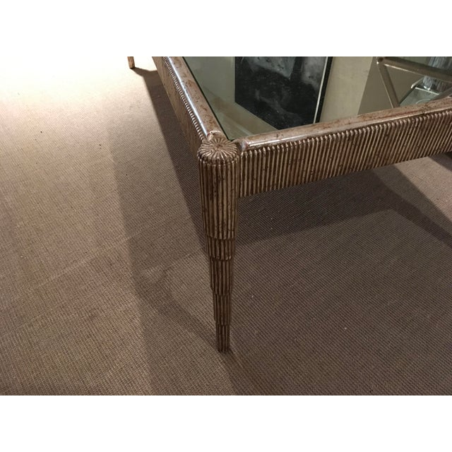 Mid-Century Cocktail Table with Antique Silver Finish and Mirrored Top For Sale - Image 4 of 7