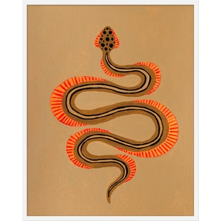 "Medium ""Espresso the Snake"" Print by Willa Heart, 32"" X 40"" For Sale"