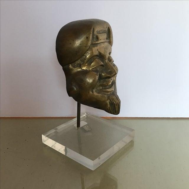 Mid-Century Bronze Buddha Head For Sale In Miami - Image 6 of 6