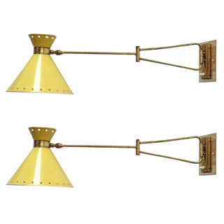 Lunel French Swing Arm Sconces - A Pair For Sale