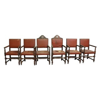 Salvaged American Legion Burgundy Vinyl Chairs - Set of 6 For Sale