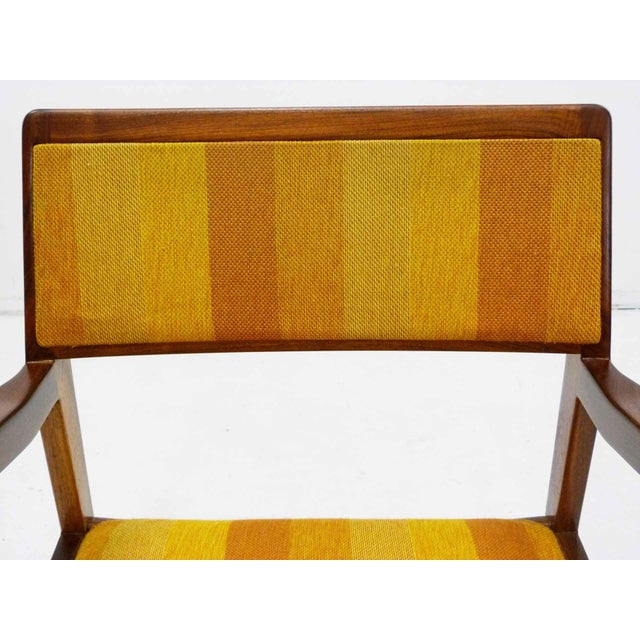 "Jens Risom Oiled Walnut ""Playboy"" Arm Chair - Image 7 of 10"