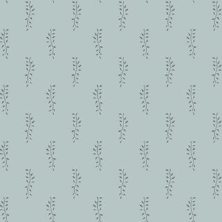 House of Harris Airlie Fabric, Dusty Blue For Sale