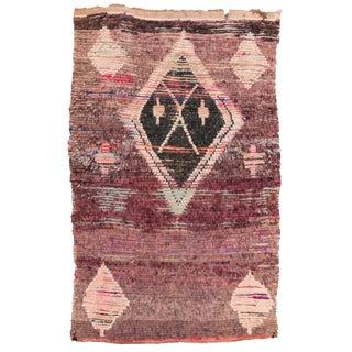 """Vintage Amercian Rag Rug, 4'1"""" X 6'4"""" For Sale"""