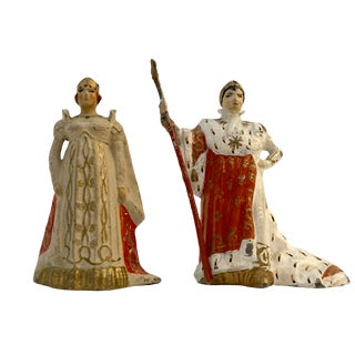 Vertuni The Emperor Napoleon the 1st and His Wife the Empress Josephine Lead Soldiers - a Pair For Sale