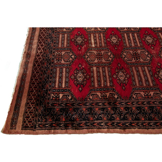 """1960s Vintage Persian Rug, 3'02"""" X 4'10"""" For Sale - Image 5 of 8"""