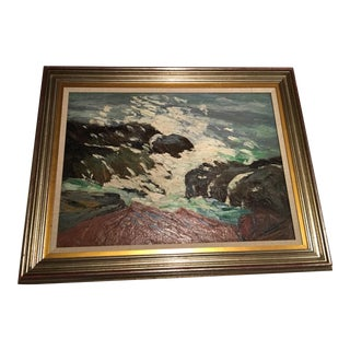Framed Seascape Painting 'After the Blow' For Sale