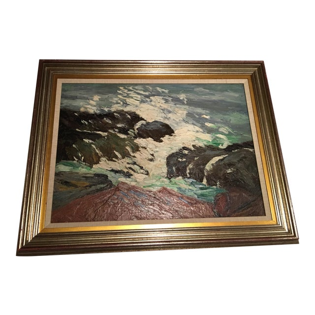 Framed Seascape Painting 'After the Blow' - Image 1 of 8