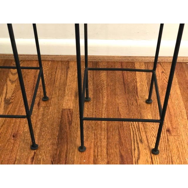 Black Late 20th Century Iron Trellis Plant Stands - a Pair For Sale - Image 8 of 12