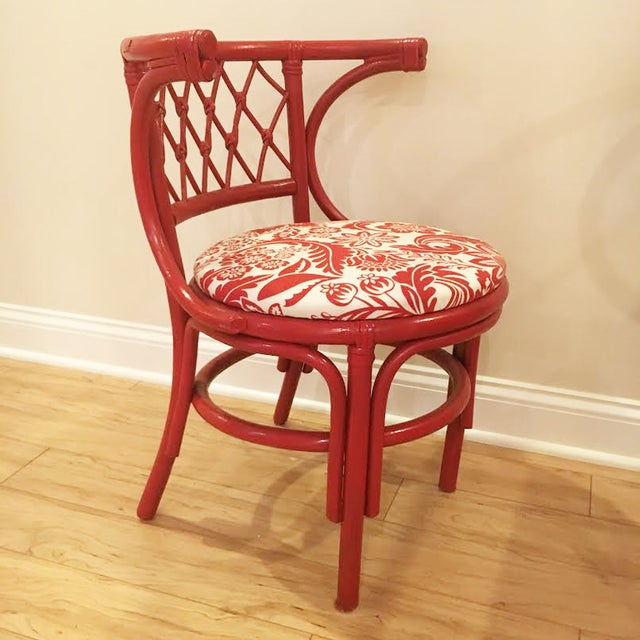 Vintage Rattan Chat Dining Set - Image 4 of 6