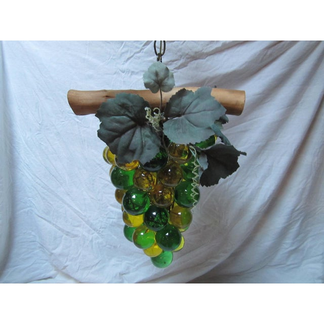 Vintage Grape Cluster Acrylic Pendant Light For Sale - Image 12 of 12