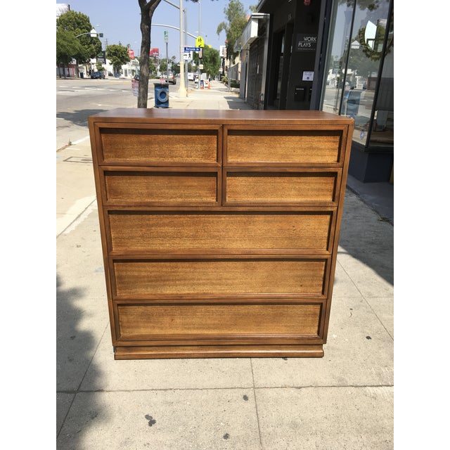 Mid-Century Modern 1950s Mid Century Modern Triangle Brand Mahogany Highboy For Sale - Image 3 of 12