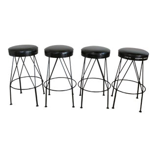 Vintage Mid Century Bar Stools by Arbuck - Set of 4 For Sale