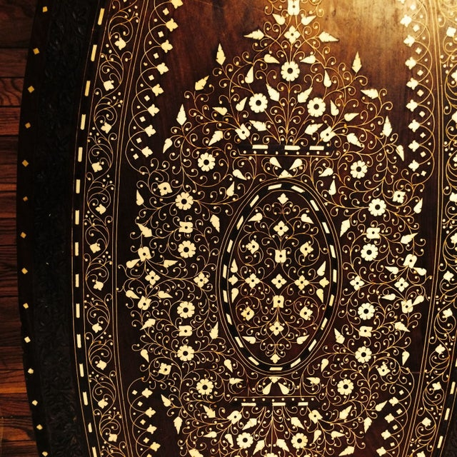 Anglo Raj Inlaid Cocktail Table - Image 4 of 8